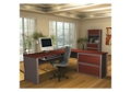 L-Shaped Desk and File with Hutch, 13477