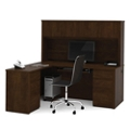Reversible L-Shaped Desk with Hutch, 13493