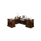 Cobblestone Cherry Traditional Right Return L-Desk, 15521