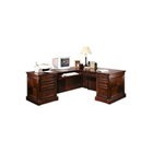 Cobblestone Cherry Traditional Left Return L-Desk, 15522