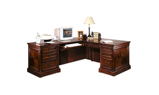Traditional Left Return L-Desk, 15522
