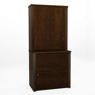Lateral File with Two Door Hutch, 13495