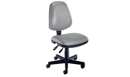 Armless Mobile Task Chair in Vinyl Upholstery, 51654