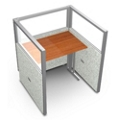 """Single Workstation with Clear Top - 37""""W x 47""""H, 13634"""