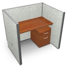 """Single Vinyl Workstation and Mobile File - 48""""W x 47""""H, 13636"""