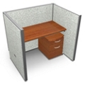 "Single Vinyl Workstation and Mobile File - 48""W x 47""H, 13636"