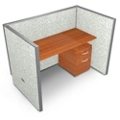 """Single Vinyl Workstation and Mobile File - 60""""W x 47""""H, 13638"""