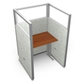 """Single Workstation with Clear Top - 37""""W x 63""""H, 13639"""