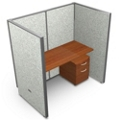 "Single Vinyl Workstation and Mobile File - 60""W x 63""H, 13644"