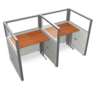 "Double Workstation with Clear Top - 74""W x 47""H, 13645"