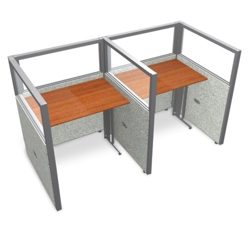 """Double Workstation with Clear Top - 74""""W x 47""""H, 13645"""