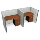 """Double Vinyl Workstation with Mobile File - 96""""W x 47""""H, 13648"""