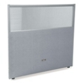 """48""""W x 47""""H Vinyl Partition with Clear Top, 21215"""