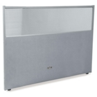 """60""""W x 47""""H Vinyl Partition with Clear Top, 21217"""