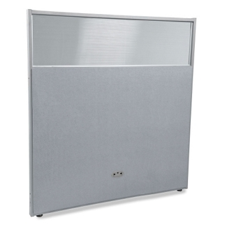 "60""W x 63""H Vinyl Partition with Clear Top, 21223"