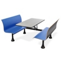"Retro Bench with 48"" x 30"" Stainless Steel Table Top, 44242"