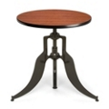 "Modern Adjustable Height Round Table - 30"" Diameter, 44658"