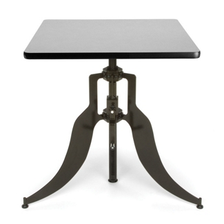 "Modern Adjustable Height Square Table - 30""W, 44659"