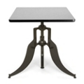 """Modern Adjustable Height Square Table - 30""""W, 44659"""