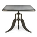 """Modern Adjustable Height Metal Square Table - 36""""W, 44663"""