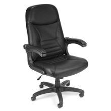 Mobile Arm Leather High Back Chair, 50823