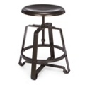 Short Adjustable Height Metal Seat Stool, 50980
