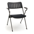 Fabric Seat Nesting and Stacking Chair with Arms, 51561