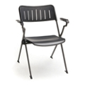 Plastic Nesting and Stacking Chair with Arms, 51562