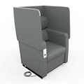 Faux Leather Flip Up Privacy Panel Chair, 56607