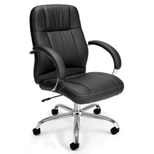 Mid-Back Leatherette Conference Chair, 56964