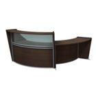 Marque Double Reception Set with Plexiglass Panel and ADA Station, 75664