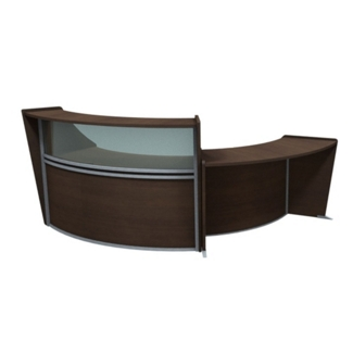 "Marque Two Piece ADA Reception Set with Plexi - 116""W x 49""D, 75664"