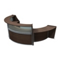 "Marque Three Piece ADA Reception Set with Plexi - 139""W x 70""D, 75666"