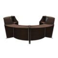 "Marque Four Piece ADA Reception Station with Plexi - 128""W x 104""D, 75667"