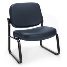 Big and Tall Armless Vinyl Guest Chair, 75962