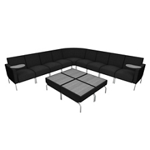 Modular Corner Lounge Chair Set , 76282