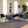 L-desk with Task Chair and Guest Chair, 86300