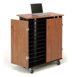 "Charging 24 Slot Laptop Cart- 44""H, 43394"