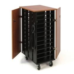 """Mobile Charging 24 Slot Laptop Storage Cart- 44""""H, 43395"""