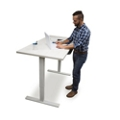 "Adjustable Height Table Desk 48""W x 30""D, 46197"
