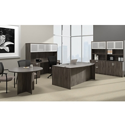 Bow Front Desk Suite with Conference Table, 14730
