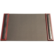 Rosewood and Leather Desk Pad, 90010