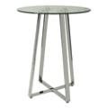 "Modern Glass Top Round Pub Table - 36"" Diameter, 41014"