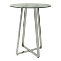 "Modern Glass Top Round Pub Table - 36"" Diameter, 41014"