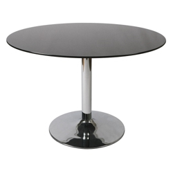 """Glass Top Round Conference Table - 44"""" Diameter, 41685"""
