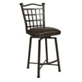 "Metal Frame Faux Leather Barstool - 30""H, 75645"
