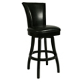 "Traditional Wood Frame Leather Barstool - 30""H, 75652"