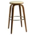 "Modern Wood Veneer Frame Faux Leather Barstool - 30""H, 75656"