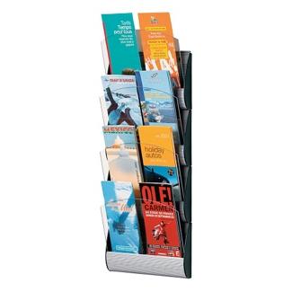"Eight Slot Brochure Wall Rack - 9""W, 33010"
