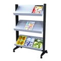 Mobile Literature Rack with Three Shelves, 33386
